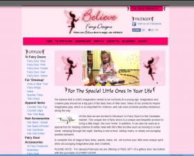 Believe Fairy Designs Ecommerce